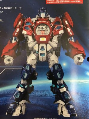 Transformers News: G- Shock x Transformers Master Optimus Prime Resonant Mode revealed (watch and pedestal)