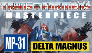 Transformers News: TakaraTomy Transformers Masterpiece MP-31 Delta Magnus - Box and Card Images