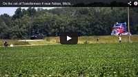 Transformers 4 Optimus Prime Chase Filming Caught On Video