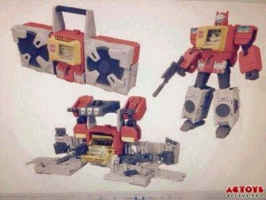 Transformers News: Rumour: First Image of Titan Wars Blaster, Including Base Mode