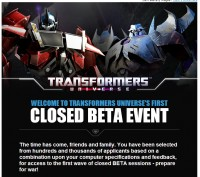 Transformers News: Transformers Universe MMO Closed Beta Testing Begins Tomorrow