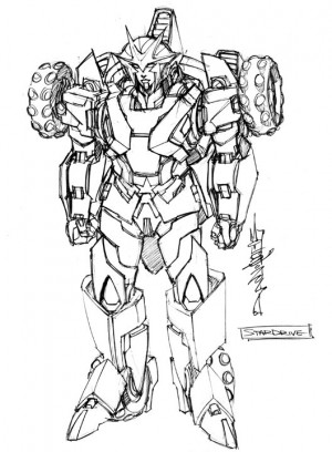 IDW Rom Vs. Transformers: Shining Armor Character Designs by Alex Milne