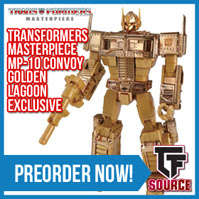 Transformers News: TFSource News! Golden Lagoon MP-10 Optimus Prime, MT Downbeat, IF, MMC, MAAS Tyrant Throne, KFC Transistor & More!