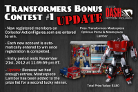 Transformers News: DASH is Now Giving Away a Masterpiece Prime AND Lambor (and entering is easy)