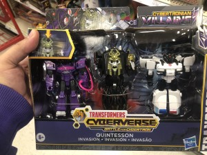 "Transformers News: Transformers: Cyberverse ""Battle for Cybertron"" Quintesson Invasion 3-Pack Found at Retail"
