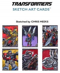 Transformers News: Breygent Marketing Transformer Sketch Card Samples