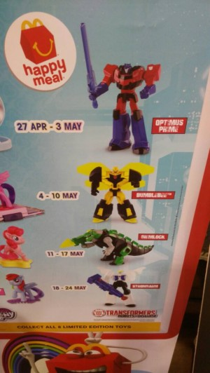 New McDonalds Happy Meal Robots in Disguise Toys In Malaysia