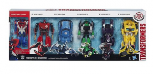Transformers News: RiD 2015 Target-exclusive One-Step changer 6-pack found on sale in the UK at Tesco