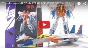 Video Review for  Hasbro Transformers Masterpiece Starscream MP 07