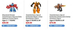 Hasbro Toy Shop Free Shipping on Hot Holiday Toys, including Transformers