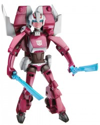 TRU Exclusive Animated Arcee and Cybertron Ratchet Sighted