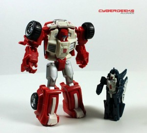 Transformers News: In-Hand Images: Transformers Generations Legends Swerve with Flanker
