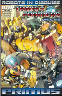 Transformers News: Reviewing IDW's Robot's In Disguise ANNUAL 2012 - The BIG DEAL!