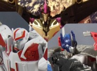 In Hand Images of Transformers Prime AM -01 Optimus Prime,  AM-04 Ratchet and AM - 06 Skywarp