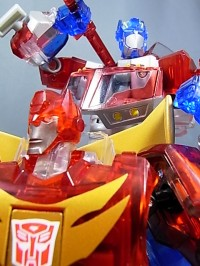 Transformers News: Toy Images of Sons Of Cybertron - Clear Animated Optimus Prime & Rodimus