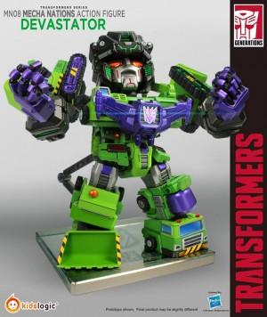 Transformers News: Kids Logic G1 Mecha Nations MN08 Devastator and Cons