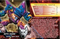 Transformers News: TFCC 2013 Membership Incentive Depth Charge File Card with Bio