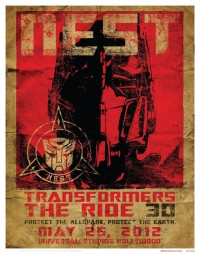 Free Transformres: The Ride 3D Poster at SDCC Preview Night