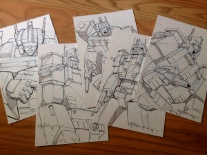 Andrew Wildman Transformers: Regeneration One #100 Variant Covers with Ultra Magnus Sketch Auctions