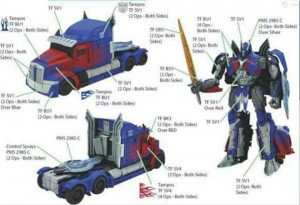 Possible Transformers: The Last Knight Optimus Prime Toy Design Sheet