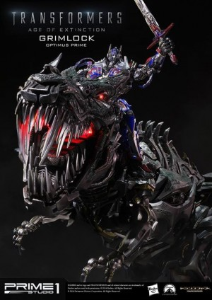 Transformers News: Prime 1 Studios MMTFM-05 Grimlock and Optimus Prime (Age of Extinction)