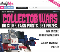 Win Encore Fortress Maximus & $750 in Prizes with ShelfLife.net's Collector Wars (Season 2)