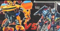 Transformers News: Another Look at Battlefield Bumblebee vs. Infiltration Soundwave Packaging.