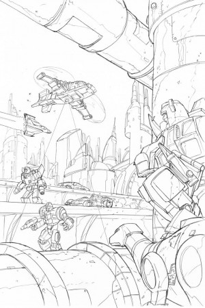 Transformers News: Transformers: Regeneration One Original Andrew Wildman Art Auction