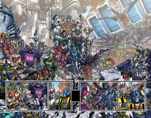 Transformers News: IDW Transformers: More than Meets the Eye #27 (DC 10) Double Spread Decoded