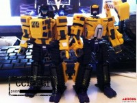 Transformers News: In-Hand Images of MakeToys Excavator and Bulldozer (Updated with Robot Mode Image)