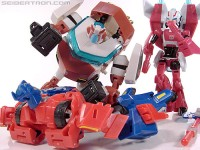 Animated Arcee and Cybertron Mode Ratchet Land in Canada