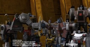 "Transformers News: Stan Bush Releases New Video ""Thunder in Your Heart"" Featuring Transformers Animation"
