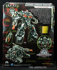 Biographies and Packaging Images of Shadow Command Megatron and Strike Mission Sideswipe