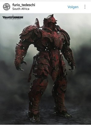 Red Knight Concept Art from Transformers: The Last Knight