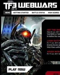 Transformers News: TF3 Webwars Online Game