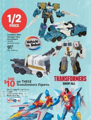 Combiner Wars Voyagers for Less Than $10 in Toysrus Canada Christmas Catalogue
