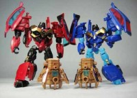 Transformers News: In-Hand Images: Takara Tomy Transformers Prime Arms Micron AM-30 Rumble, AM-31 Frenzy, & AM-32 Wild Rider