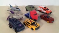 Transformers Prime McDonald's Happy Meal Toys Video Reviewed