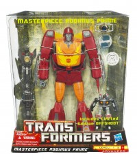 Transformers News: First Look at Hasbro's Masterpiece Rodimus Prime With Offshoot In Package