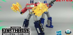 New English Video Review of Transformers Netflix War for Cybertron Voyager Class Optimus Prime