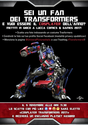 Transformers News: Transformers Cosplayer Contest at Lucca Comics & Games 2017