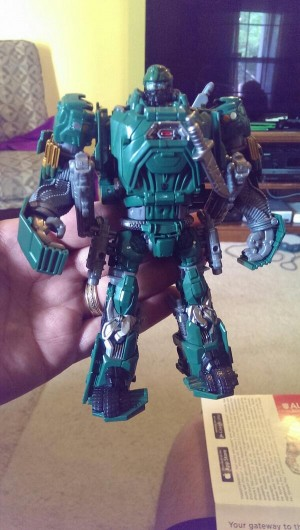 Transformers News: In-Hand Images - Transformers: Age of Extinction Autobot Hound and Weapons