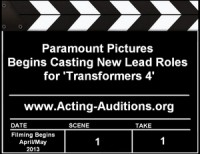 Transformers News: Rumor Confirmed: Paramount Pictures Begins Casting New Lead Roles for Transformers 4