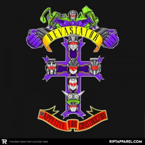 Transformers News: Two Transformers-inspired Designs Now Available at RIPT Apparel! (With Exclusive Discount!)