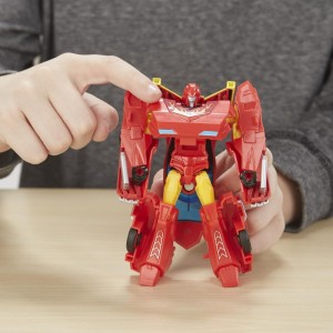 Transformers News: Video Review for Transformers Cyberverse Warrior Class Hot Rod