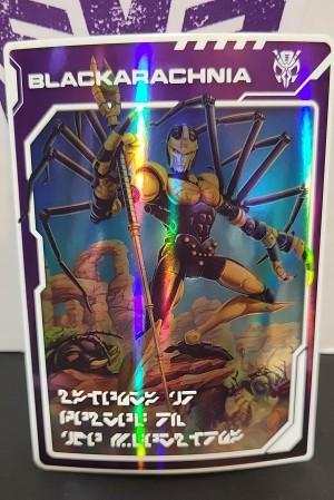 New Kingdom Blackarachnia and Dinobot Golden Disk Card Images