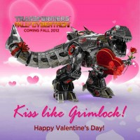 Transformers News: Happy Valentine's Day from Transformers Fall of Cybertron's Grimlock