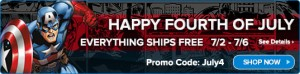 HasbroToyShop.com July 4th Weekend Free Shipping Code