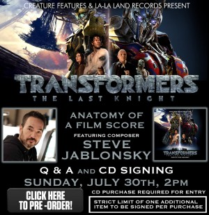 Steve Jablonsky Talk on Transformers: The Last Knight Score in LA, July 30th