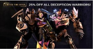 Transformers News: 25% Off Sale For Decepticons In Transformers Universe
